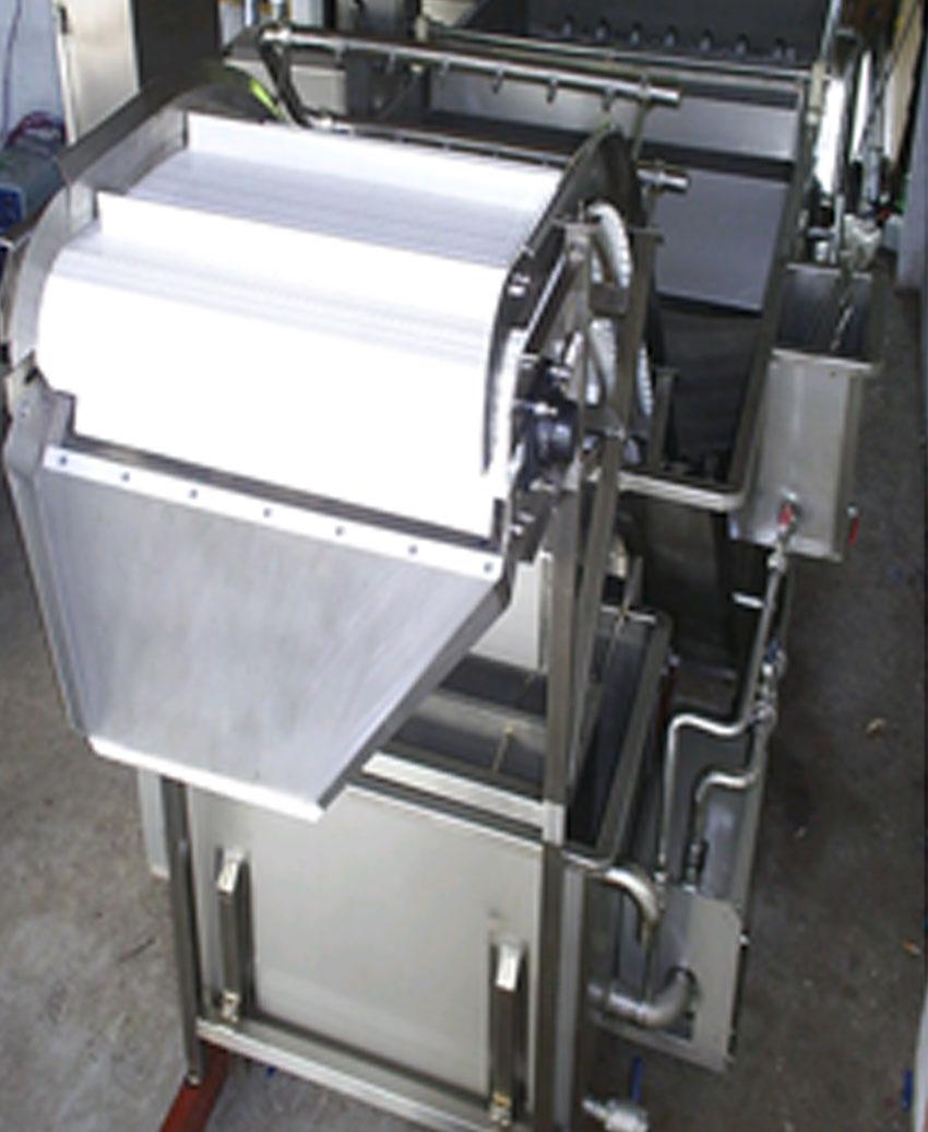 เครื่องล้างผักผ่านระบบสายพาน
